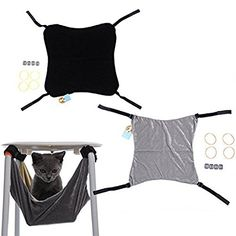 PUERI Pet Dog Cat Hammock Removable Hanging Soft Bed Cages for Chair Kitty Rat Small Pets Swing: Amazon.co.uk: Pet Supplies