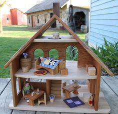 Cherry Wood Doll House: Palumba. We both love this one...