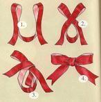 So macht man also die perfekte Schleife für eine Geschenkverpackung. Das probiere ich aus