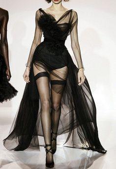 robe voile noir