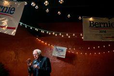 SUMTER, S.C. 2/22/2016 Senator Bernie Sanders spoke at a prayer breakfast at the Serendipity Cafe. Sam Hodgson for The New York Times