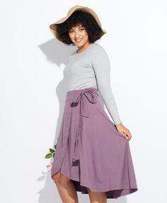 214d5066f74203 PACT Women s Nightshade Midi Wrap Skirt XS