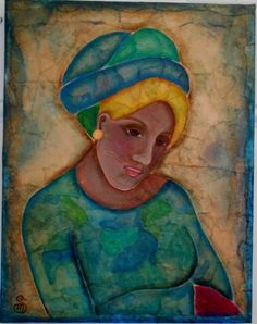 Woman With Turban by OneWildSwan on Etsy, SOLD!