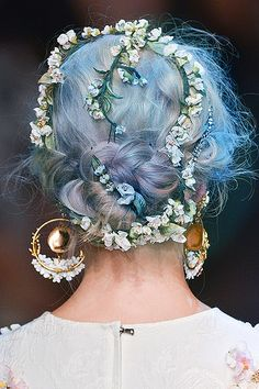 """ Dolce Gabbana ss14 + hair colors 