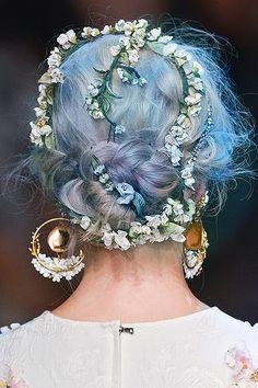 Dolce Gabbana SS2014 #pastel #blue