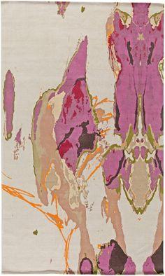 Modern Eskayel rug by Doris Leslie Blau featuring geometrical pattern and gold color #moderninterior #rug
