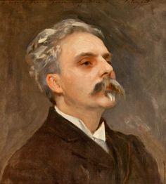 Gabriel Fauré (1845-1924), painting (1889), by John Singer Sargent (1856-1925).