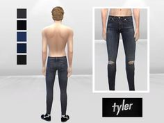 McLayneSims' Little Rocker Distressed Skinny Jeans