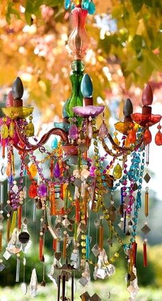 colorful chandelier....