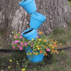 "Transform your garden with these creative flower pot ideas! // Transform your garden with these creative flower pot ideas! // ""pinner"": {""username"": ""beautyideen"", ""first_name"": ""Beauty Ideen"", ""domain_url"":. Yard Art, Outdoor Projects, Diy Projects, Clay Pot Projects For Garden, Garden Crafts, Garden Pots, Potted Garden, Tire Garden, Garden Bed"