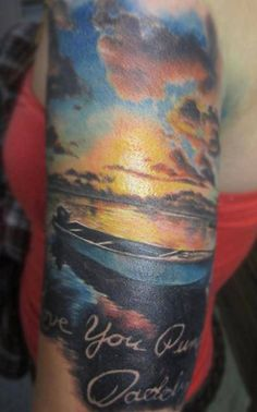 What does sun tattoo mean? We have sun tattoo ideas, designs, symbolism and we explain the meaning behind the tattoo. Sunset Tattoos, Dad Tattoos, Sister Tattoos, Couple Tattoos, Sleeve Tattoos, Beach Tattoos, Tatoos, Sun Tattoo Meaning, Tattoos With Meaning