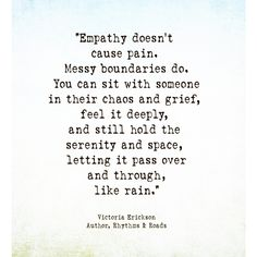 There is a difference between being an empath and having empathy. Victoria Erickson, Therapy Quotes, Unrequited Love, English Words, Strong Quotes, Bullet Journal Inspiration, Self Help, Grief, Wise Words