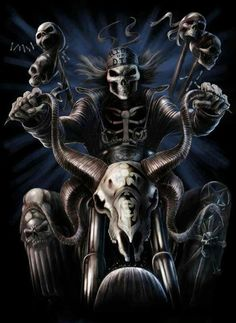 Bad to the Bone Skull Art