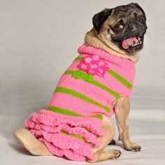 You go, girl! Our Handmade Girly Dog Sweaters are a stylish way to keep your pet warm.