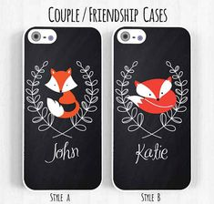 Chalkboard Fox Phone Case Personalized iPhone by SugarloafGraphics, $15.95 Ok this is the one I'd want! Either style.