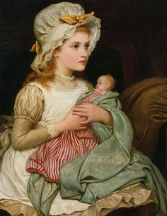 women victorian painters   Kate Perugini: A Young Girl with her Doll