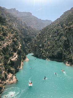 The Gorges du Verdon is located in the Provence region of southern France. Vacation Destinations, Dream Vacations, Vacation Spots, Places To Travel, Places To See, The Places Youll Go, Travel Around The World, Around The Worlds, Loire Valley