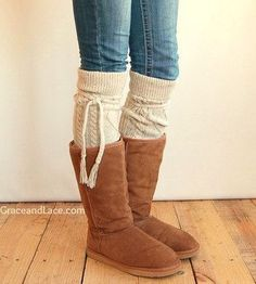 2c59b026931c3 SALE Alpine Thigh High Slouch Sock - Tweed thick cable knit socks w/ fold  over cuff and tassel tie - boot sock leg warmer (item no.
