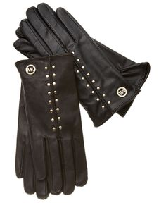 MICHAEL Michael Kors Gloves, Leather Astor Studded - Hats, Gloves & Scarves - Handbags & Accessories - Macy's