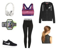 """""""Jogging"""" by valeriatrujillog on Polyvore featuring Calvin Klein, Beats by Dr. Dre, NIKE and Ficcare"""