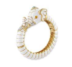 Amazon.com: Kenneth Jay Lane White Elephant Enamel Magnetic Bracelet: Kenneth Jay Lane: Jewelry