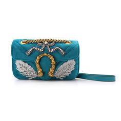 CHITA Patchwork And Embroidery Mermaid Lock Cross Body Bag