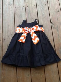 Girls Little Halloween Dress with Sash and by EverythingSorella, $58.50