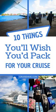 10 Things You'll Wish You'd Packed for Your Cruise, TRAVEL, Cruise packing tips on things you'll wish you'd pack for your cruise vacation. Packing List For Cruise, Cruise Travel, Cruise Vacation, Travel Packing, Travel Hacks, Disney Cruise, Travel Tips, Vacations, Vacation Travel