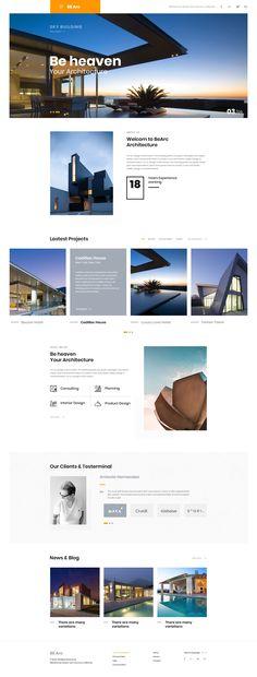 Best Web Design Beeachi Architecture Business images on Designspiration Webpage Layout, Blog Layout, Web Layout, Layout Design, Design Responsive, Ui Ux Design, Site Design, Flat Design, Brochure Design