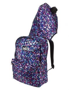 JUSTICE Girls Sequin Stripe Rucksack Backpack, NEW | Bags ...