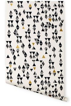 charcoal/gold Triangles pattern
