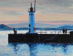 ARTFINDER: The Anstruther Lighthouse by Stephen Howard Harrison - This is an oil painting of the Lighthouse at Anstruther Harbour, in the East Neuk of Fife. It is one of a series of paintings I have done of the harbour, and...