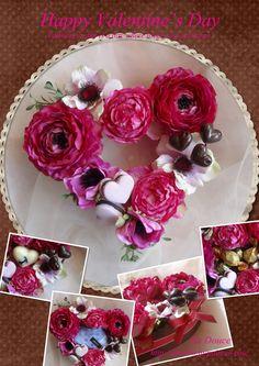 アーティフィシャルフラワー,バレンタイン,チョコレート,スイーツデコ,プレゼント,結婚プレゼント