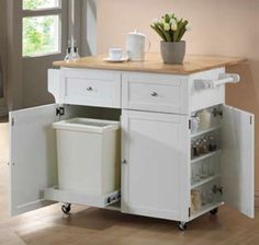 Wood Kitchen Cart L 45 X W31 5 H 35 Cst 900558