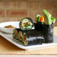 Raw vegan nori rolls HealthyAperture.com  This is an occational treat for me.~