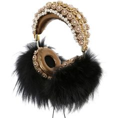 Dolce & Gabbana Women Frends Embellished Headphones ($8,510) ❤ liked on Polyvore featuring accessories, tech accessories, electronics, hats, headphones, other and dolce&gabbana