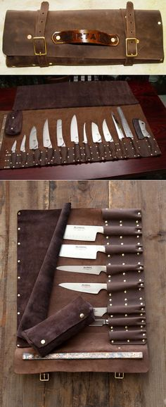 Leather Knife roll designed by Steve Goodson