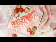 Get fancy with a stunning strawberry and cream roll cake gorgeously detailed with a lattice pattern design. The post Laced Pattern Roll Cake appeared first on Food Monster. Just Desserts, Delicious Desserts, Yummy Food, Fancy Desserts, Fancy Cakes, Cake Roll Recipes, Dessert Recipes, Tea Party Recipes, Eat Cake
