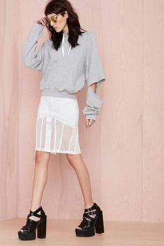Maurie & Eve Exposure Cutout Hoodie | Shop Clothes at Nasty Gal!