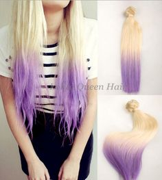 Pastel Hair Extensions Purple Wigs Blonde to by LolitaQueenHair