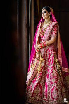 Indian Bridal Photos, Indian Bridal Outfits, Indian Fashion Dresses, Indian Bridal Fashion, Indian Bridal Wear, Indian Wear, Pink Bridal Lehenga, Designer Bridal Lehenga, Indian Bridal Lehenga