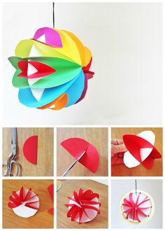 Easy to make 3D paper planets. Add a little glow in the dark paint to make them glow too!