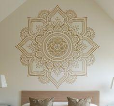Muursticker Bloemen Mandala