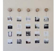 Great way to use wall space and display photos!