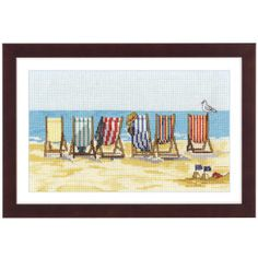 Seaside Beach Chairs - Cross Stitch, Needlepoint, Embroidery Kits – Tools and Supplies