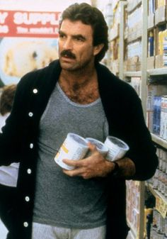 Tom Selleck in 3 men and a baby. Such a great, great movie...