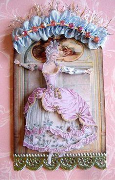 Marie Antoinette ATC by talented Terri Gordon
