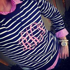 striped / monogrammed!