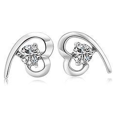 prime leader fashion jewelry fashion womens earrings swarovski crystal stones novelty heart stud ornaments gift