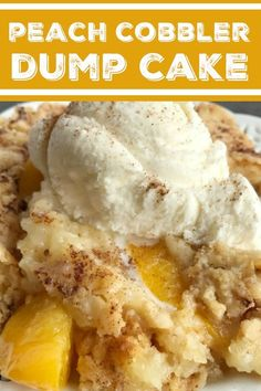 Peach Cobbler Dump Cake Cobbler Dump Cake Peach Desserts 4 Ingredients is all you need for this easy and delicious dessert Serve with vanilla ice cream for the best f. Southern Peach Cobbler, Sugar Free Peach Cobbler, Peach Cobbler Dump Cake, Recipe For Peach Cobbler Using Cake Mix, Peach Cobbler Pound Cake Recipe, Healthy Peach Cobbler, Best Peach Cobbler, Peach Pound Cakes, Peach Cake
